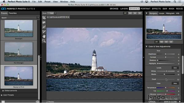 Understanding presets: Up and Running with Perfect Photo Suite 8