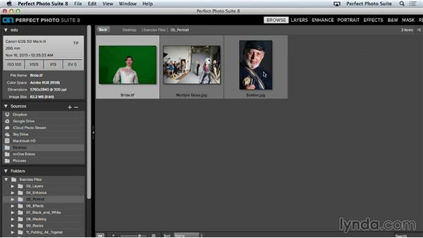 Working with faces: Up and Running with Perfect Photo Suite 8