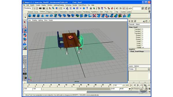 Selecting and Moving Objects: Maya 6.5 Essential Training