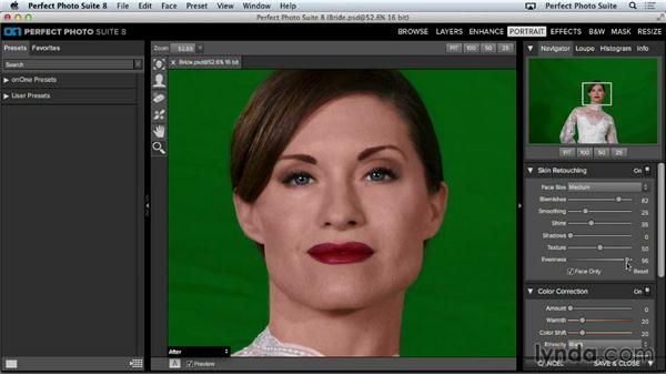 Adjusting skin tone: Up and Running with Perfect Photo Suite 8