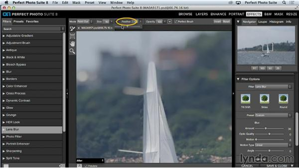 Using lens blur to create bokeh, tilt-shift, and selective-focus effects: Up and Running with Perfect Photo Suite 8