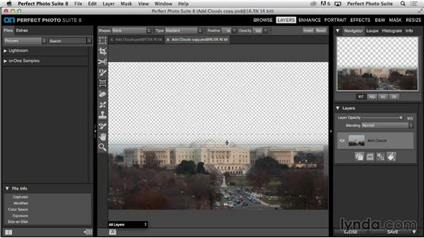 Creating a simple mask in the Layers module: Up and Running with Perfect Photo Suite 8