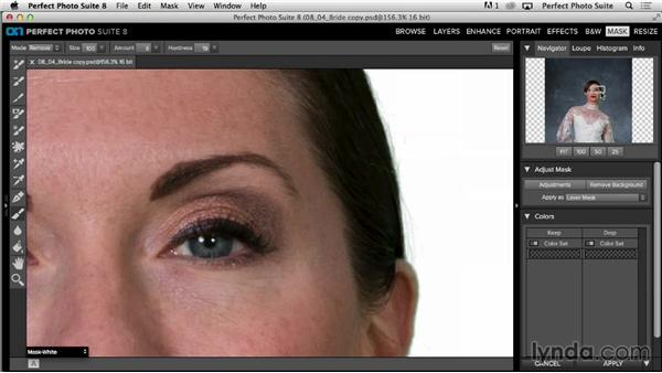 Refining your mask: Up and Running with Perfect Photo Suite 8