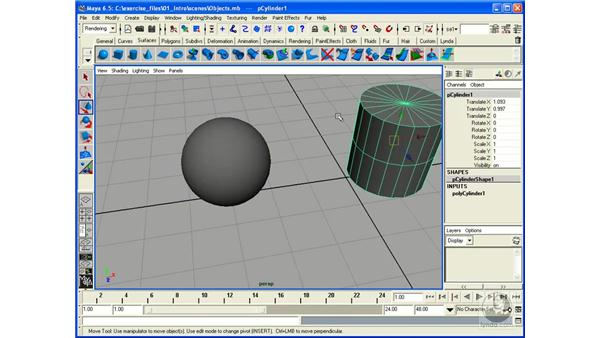 Object Components: Maya 6.5 Essential Training