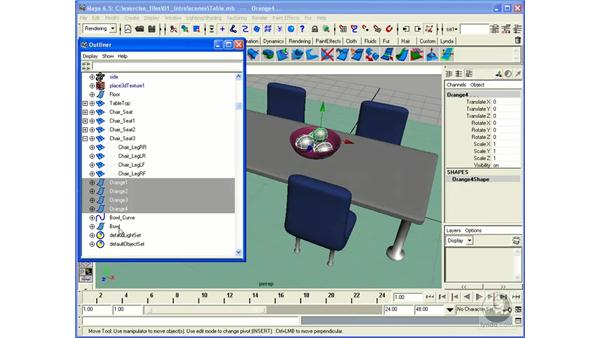 Outliners and Hierarchies: Maya 6.5 Essential Training