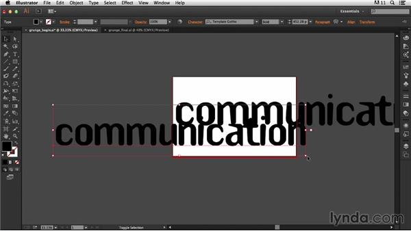 Setting up the document: Type Project: Grunge Poster