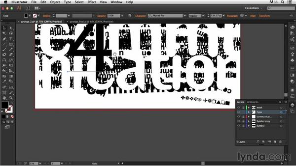 Adding the supporting text: Type Project: Grunge Poster