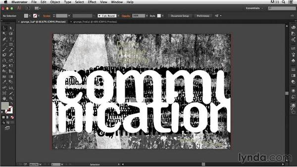 Adding the texture: Type Project: Grunge Poster