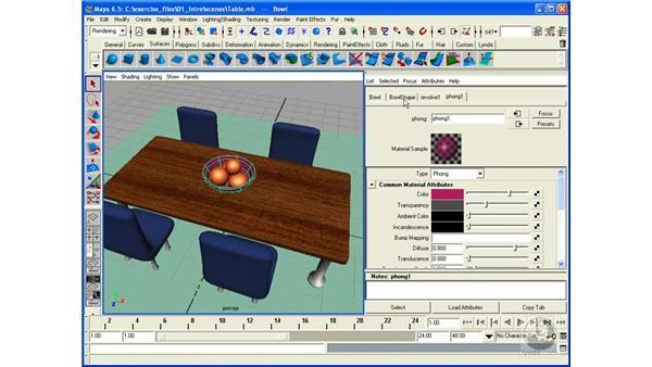 Attribute Editor: Maya 6.5 Essential Training