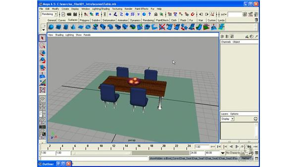 Showing and Hiding Layers: Maya 6.5 Essential Training
