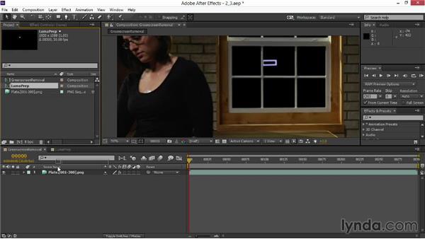 Using a track matte: VFX Techniques: Digital Set Extension