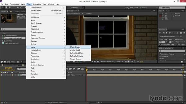 Refining the alpha matte: VFX Techniques: Digital Set Extension