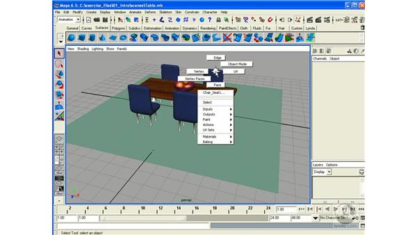 Templates / Selection Masks: Maya 6.5 Essential Training