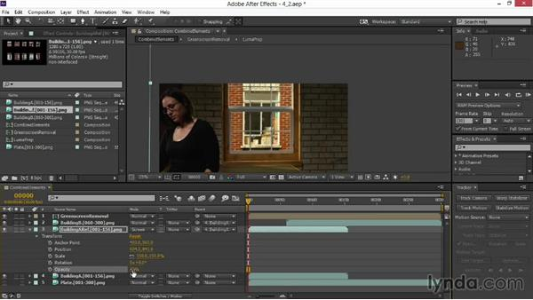 Layering background reflections: VFX Techniques: Digital Set Extension