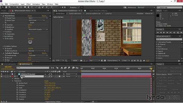 Animating a 3D layer: VFX Techniques: Digital Set Extension