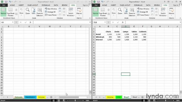 Copying, moving, and/or inserting data on different sheets: Excel 2013: Managing Multiple Worksheets and Workbooks