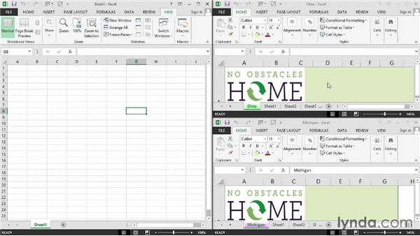 Moving and copying data and entire worksheets across different workbooks: Excel 2013: Managing Multiple Worksheets and Workbooks