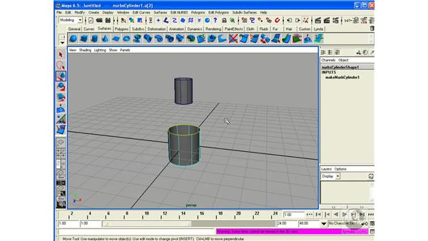 Connecting Surfaces with Fillets: Maya 6.5 Essential Training