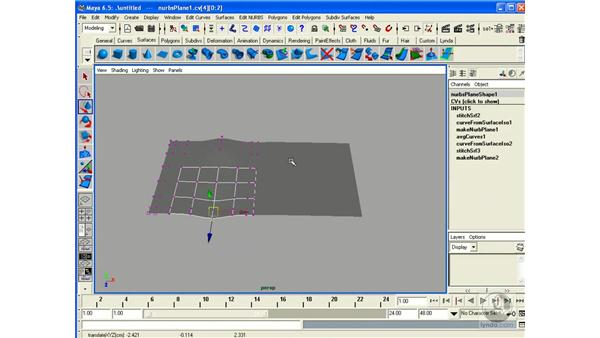 Connecting Surfaces with Stitch: Maya 6.5 Essential Training