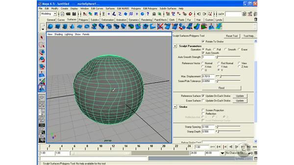Editing Surfaces / Artisan: Maya 6.5 Essential Training