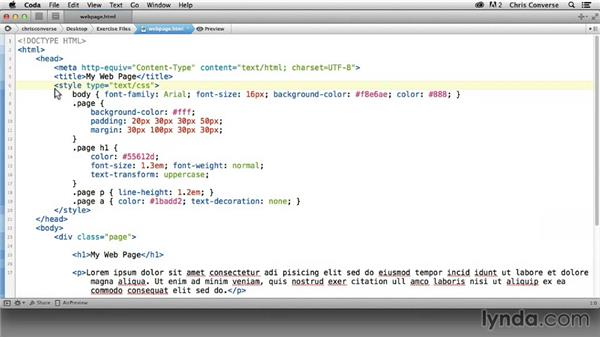About the exercise files: Design the Web: Graphics and CSS Pseudo-Elements