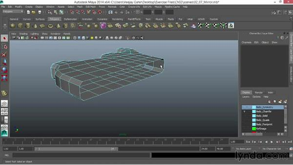 Mirroring across the centerline with Duplicate Special: Modeling an F1 Wheel in Maya