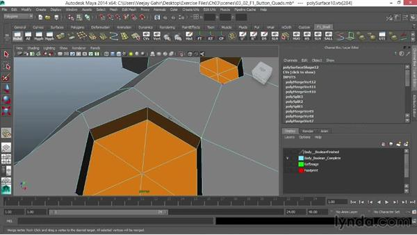 Creating quads using the Interactive Split tool: Modeling an F1 Wheel in Maya