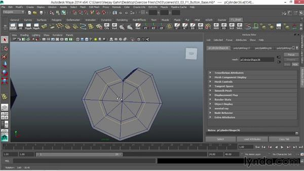 Creating the button base: Modeling an F1 Wheel in Maya