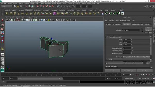 Creating the button indent: Modeling an F1 Wheel in Maya