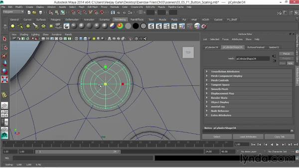 Scaling the buttons: Modeling an F1 Wheel in Maya