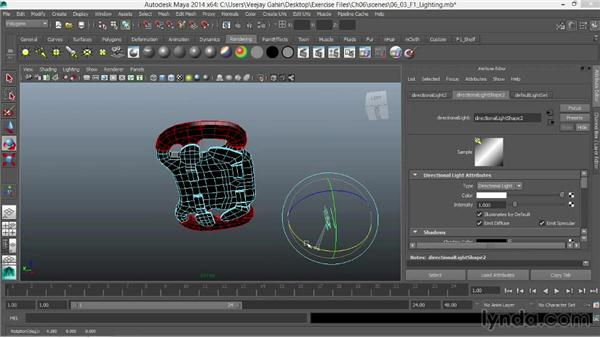 Positioning lights and adjusting light attributes: Modeling an F1 Wheel in Maya