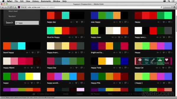 Finding color inspiration online: Graphic Design for Business Professionals