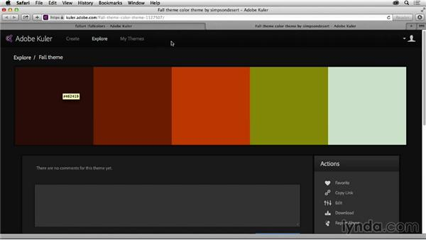 Solution: Create a color theme: Graphic Design for Business Professionals