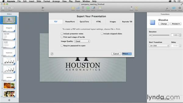 Exporting your slides to PDF: Graphic Design for Business Professionals