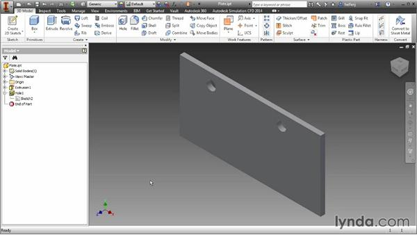 Extracting iFeatures for use in other parts: Inventor 2014 Essential Training