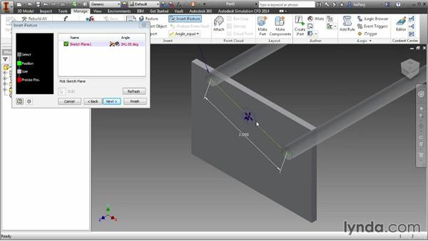Inserting iFeatures into a part: Inventor 2014 Essential Training