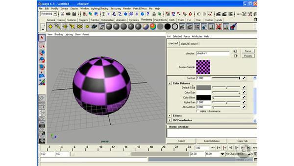 Editing Shaders / Applying Maps: Maya 6.5 Essential Training