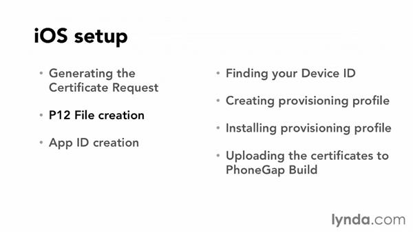 Setting up your account for iOS development: Part one: Up and Running with PhoneGap Build