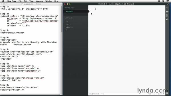Creating a config.xml file: Up and Running with PhoneGap Build