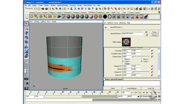 UV Mapping and Textures: Maya 6.5 Essential Training