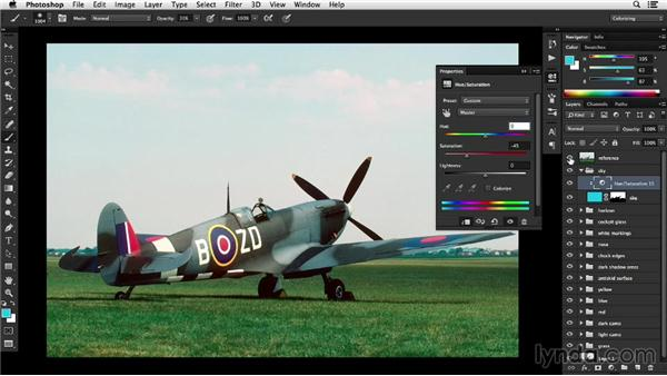 Colorizing the sky in an outdoor scene: Recolorizing a Photograph with Photoshop