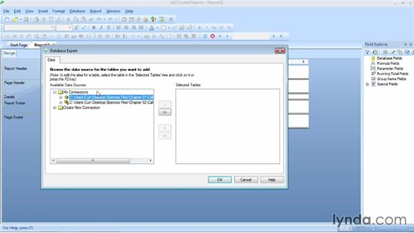 Linking to a data source: Crystal Reports 2013 Essential Training