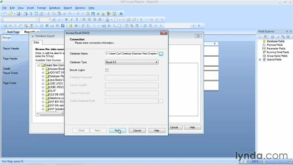 Linking to a source with multiple tables: Crystal Reports 2013 Essential Training