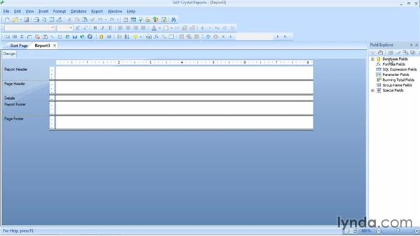 Adding fields to a report: Crystal Reports 2013 Essential Training