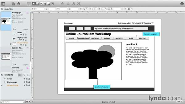 The sidebar: OmniGraffle 6 Essential Training