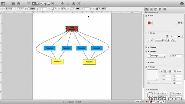 The Inspector Bar and the Style Tray: OmniGraffle 6 Essential Training