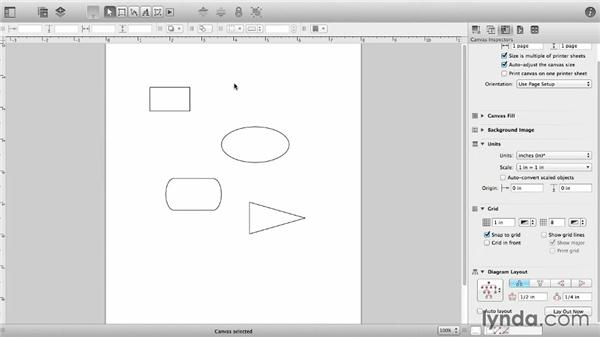 Create and manipulate shapes: OmniGraffle 6 Essential Training