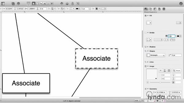 Shape styles: OmniGraffle 6 Essential Training