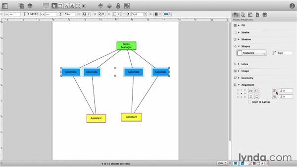 Align and distribute: OmniGraffle 6 Essential Training
