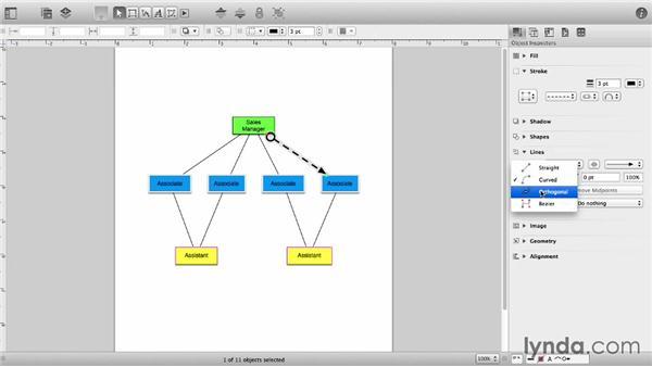 Line styles: OmniGraffle 6 Essential Training